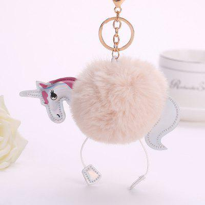 Horse Shape Plush Keychain Fashion Bag Pendant