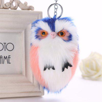 Owl Shape Plush Keychain Fashion Bag Pendant