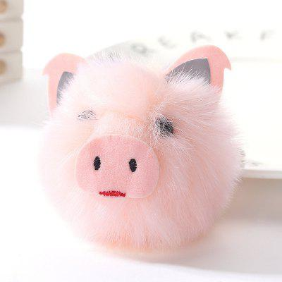 Cute Pig Shape Plush Keychain Fashion Bag Pendant
