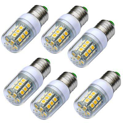 JIAWEN 6PCS E27 3W 280LM 27 - 5050SMD LED Corn Light Bulb