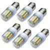 JIAWEN 6PCS E27 3W 280LM 27 - 5050SMD LED Corn Light Bulb - WARM WHITE
