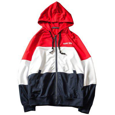 Men Color Block Patchwork Hoodies
