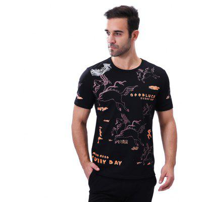 MenS Print O Neck Short Sleeeve T ShirtMens T-shirts<br>MenS Print O Neck Short Sleeeve T Shirt<br><br>Collar: Round Neck<br>Fabric Type: Broadcloth<br>Material: Cotton, Spandex<br>Package Contents: 1 x T Shirt<br>Pattern Type: Print<br>Sleeve Length: Short Sleeves<br>Style: Casual<br>Weight: 0.2600kg