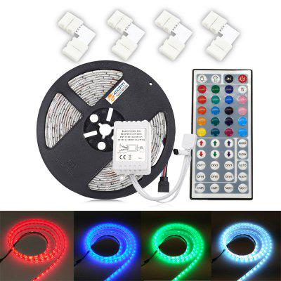 ZDM  5M 5050 300 RGB LED Strip Light with 44Key IR Controller 4PCS  10mm L Shape Quick Splitter Connector