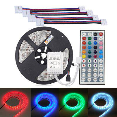 ZDM Not-waterproof 5M 5050 300 RGB LED Strip Light with 44Key IR Controller and 4PCS RGB Double Head Connection Line