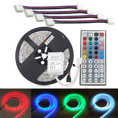 ZDM Waterproof 5M 5050 300 RGB LED Strip Light with 44Key IR Controlle and 4PCS RGB Double Head Connection Line