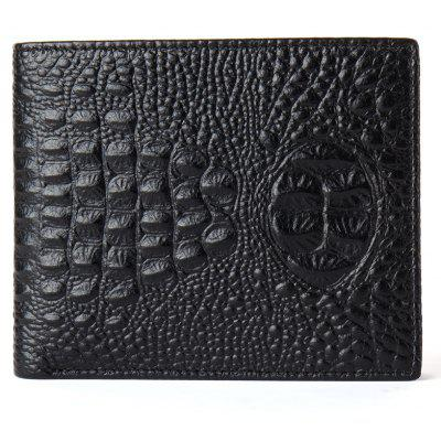 DANJUE Men Wallets Genuine Leather Alta Qualidade Alligator Bolsa curta com Black Brown Purses Brand Card Holder