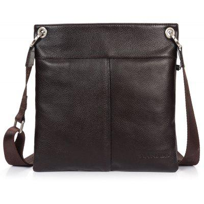 DANJUE Men Messenger Bag Couro genuíno Thin Daily Bag Bolsa Casual Masculino Natural Leather Man Business Bag Estilo clássico