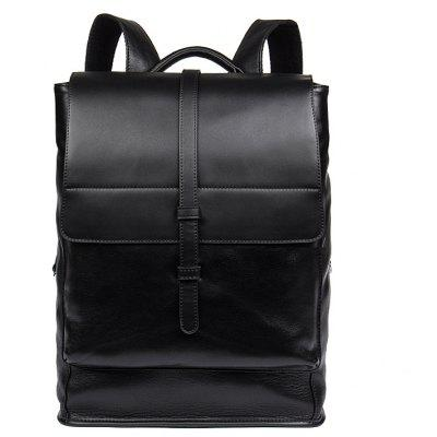 DANJUE Daily Men Backpack Genuine Leather Men Bag Large Capacity Travel Bags Male Real Leather School Bag Business
