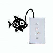 DSU Angler Fish Light Switch Wall Sticker coupons