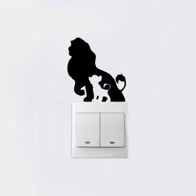DSU  Creative Lion Silhouette Light Switch Sticker Cartoon Animal Vinyl Wall DecorWall Stickers<br>DSU  Creative Lion Silhouette Light Switch Sticker Cartoon Animal Vinyl Wall Decor<br><br>Art Style: Plane Wall Stickers, Toilet Stickers<br>Artists: Others<br>Brand: DSU<br>Color Scheme: Black<br>Effect Size (L x W): 9 x 8 cm<br>Function: Light Switch Stickers, Decorative Wall Sticker<br>Layout Size (L x W): 9 x 8 cm<br>Material: Vinyl(PVC)<br>Package Contents: 1 x Wall Sticker<br>Package size (L x W x H): 12.00 x 11.00 x 1.00 cm / 4.72 x 4.33 x 0.39 inches<br>Package weight: 0.0300 kg<br>Product size (L x W x H): 9.00 x 8.00 x 0.01 cm / 3.54 x 3.15 x 0 inches<br>Product weight: 0.0200 kg<br>Quantity: 1<br>Subjects: Fashion,Letter,Cute,Cartoon,Famous,Game<br>Suitable Space: Living Room,Bedroom,Hotel,Kids Room,Entry,Kitchen,Pathway,Door,Corridor,Hallway,Boys Room,Game Room<br>Type: Plane Wall Sticker