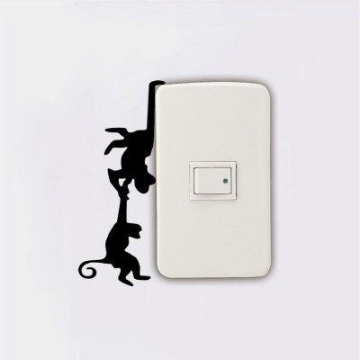 DSU Creative Monkeys Swinging Switch Sticker Cartoon Animal Vinyl Wall StickerWall Stickers<br>DSU Creative Monkeys Swinging Switch Sticker Cartoon Animal Vinyl Wall Sticker<br><br>Art Style: Plane Wall Stickers, Toilet Stickers<br>Artists: Others<br>Brand: DSU<br>Color Scheme: Black<br>Effect Size (L x W): 13.3 x 5.6 cm<br>Function: Light Switch Stickers, Decorative Wall Sticker<br>Layout Size (L x W): 13.3 x 5.6 cm<br>Material: Vinyl(PVC)<br>Package Contents: 1 x Wall Sticker<br>Package size (L x W x H): 15.00 x 8.00 x 1.00 cm / 5.91 x 3.15 x 0.39 inches<br>Package weight: 0.0300 kg<br>Product size (L x W x H): 13.30 x 5.60 x 0.01 cm / 5.24 x 2.2 x 0 inches<br>Product weight: 0.0200 kg<br>Quantity: 1<br>Subjects: Fashion,Letter,Cute,Cartoon,Famous,Game<br>Suitable Space: Living Room,Bedroom,Hotel,Kids Room,Entry,Kitchen,Pathway,Door,Corridor,Hallway,Boys Room,Game Room<br>Type: Plane Wall Sticker