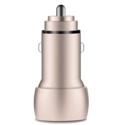 Smart Chip 5V/3.1A Aluminum Alloy Material Overcurrent Protection Dual USB Car Charger