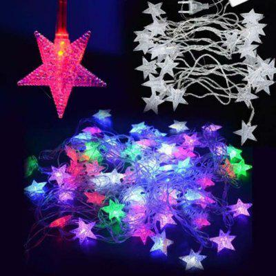 10m Night Light Decorative LED Five-pointed Star Holiday String Lamp