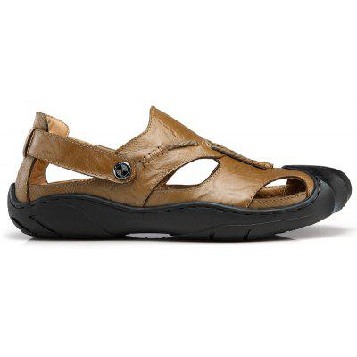 Summer Outdoor Leisure All-Match Anti-Skid Breathable Leather SandalsMens Sandals<br>Summer Outdoor Leisure All-Match Anti-Skid Breathable Leather Sandals<br><br>Available Size: 38-46<br>Closure Type: Slip-On<br>Embellishment: Metal<br>Gender: For Men<br>Heel Hight: 2.5<br>Occasion: Casual<br>Outsole Material: Rubber<br>Package Contents: 1 x Shoes (pair)<br>Pattern Type: Patchwork<br>Sandals Style: Gladiator<br>Style: Fashion<br>Upper Material: Cow Split<br>Weight: 1.4852kg