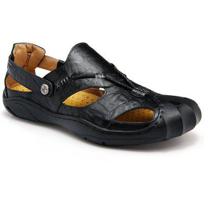 Summer Outdoor Leisure All-Match Anti-Skid Breathable Leather Sandals