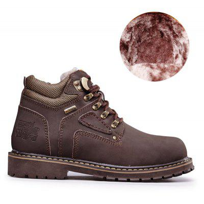 """Warm and Comfortable Outdoor Wear Leather Jobon BootsMens Boots<br>Warm and Comfortable Outdoor Wear Leather Jobon Boots<br><br>Boot Height: Ankle<br>Boot Type: Fashion Boots<br>Closure Type: Lace-Up<br>Embellishment: Metal<br>Gender: For Men<br>Heel Hight: Low(0.75""""-1.5"""")<br>Heel Type: Low Heel<br>Outsole Material: Rubber<br>Package Contents: 1 x Shoes (pair)<br>Pattern Type: Patchwork<br>Season: Winter, Spring/Fall<br>Toe Shape: Round Toe<br>Upper Material: Genuine Leather<br>Weight: 1.4852kg"""