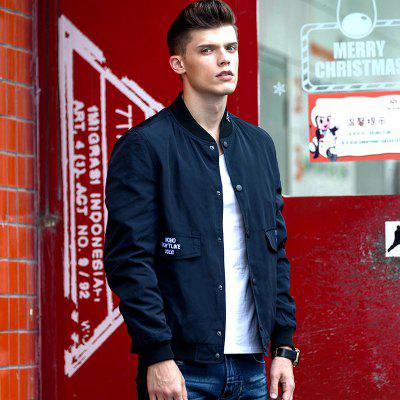 Mens Simple and Stylish Flight Suit JacketMens Jackets &amp; Coats<br>Mens Simple and Stylish Flight Suit Jacket<br><br>Clothes Type: Jackets<br>Collar: Stand Collar<br>Material: Cotton, Polyester<br>Package Contents: 1x Jacket<br>Season: Spring, Fall, Winter<br>Shirt Length: Regular<br>Sleeve Length: 3/4 Length Sleeves<br>Style: Casual<br>Weight: 0.6000kg