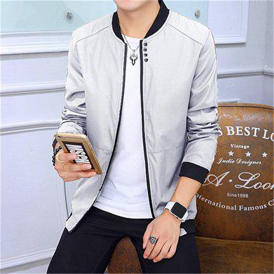Men Tide Thin Section Baseball Uniform JacketMens Jackets &amp; Coats<br>Men Tide Thin Section Baseball Uniform Jacket<br><br>Clothes Type: Jackets<br>Collar: Stand Collar<br>Material: Polyester<br>Package Contents: 1 x jacket<br>Season: Spring, Fall, Winter<br>Shirt Length: Regular<br>Sleeve Length: Long Sleeves<br>Style: Casual<br>Weight: 0.4900kg