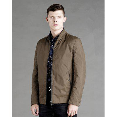 Men Stand Collar Business JacketMens Jackets &amp; Coats<br>Men Stand Collar Business Jacket<br><br>Clothes Type: Jackets<br>Collar: Stand Collar<br>Material: Polyester<br>Package Contents: 1x Jacket<br>Season: Spring, Fall, Winter<br>Shirt Length: Regular<br>Sleeve Length: Long Sleeves<br>Style: Formal<br>Weight: 0.6500kg