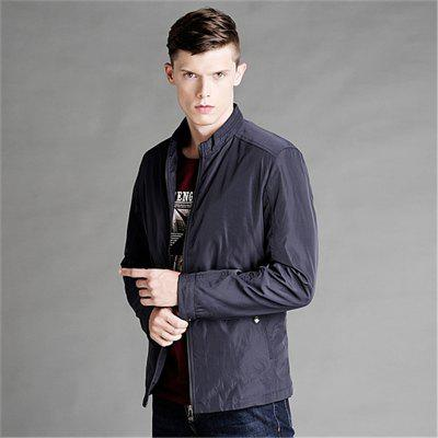 Mens Business Casual JacketMens Jackets &amp; Coats<br>Mens Business Casual Jacket<br><br>Clothes Type: Jackets<br>Collar: Stand Collar<br>Material: Polyester<br>Package Contents: 1x Jacket<br>Season: Spring, Fall, Winter<br>Shirt Length: Regular<br>Sleeve Length: Long Sleeves<br>Style: Casual<br>Weight: 0.6500kg