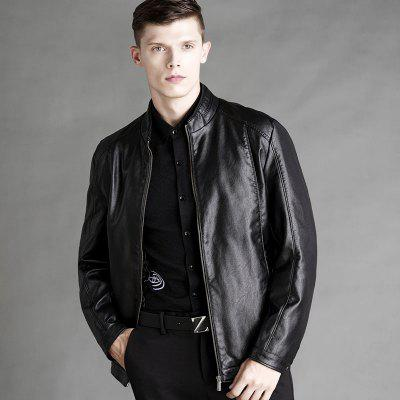Mens Business Leather JacketMens Jackets &amp; Coats<br>Mens Business Leather Jacket<br><br>Clothes Type: Leather &amp; Suede<br>Collar: Stand Collar<br>Material: Faux Leather<br>Package Contents: 1 x Jacket<br>Season: Spring, Fall, Winter<br>Shirt Length: Regular<br>Sleeve Length: Long Sleeves<br>Style: Formal<br>Weight: 1.0000kg