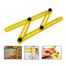 Four Folding Measurement Tool of Multifunctional Plastic Edge Folding Ruler 4 Changeable Multipurpose Transform