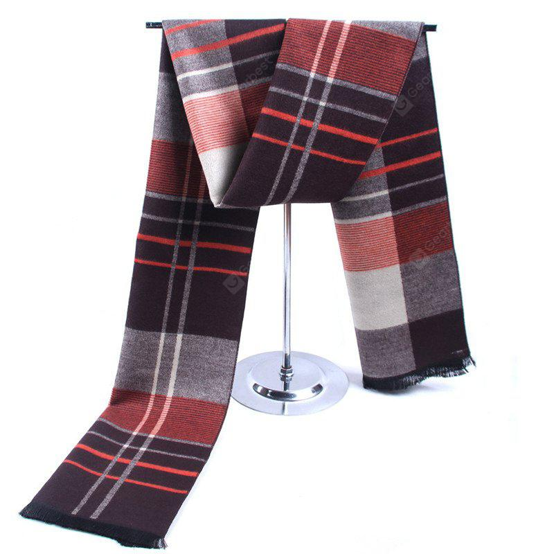 Winter Vertical Stripes Color Cashmere Scarf Warm Scarf for Men
