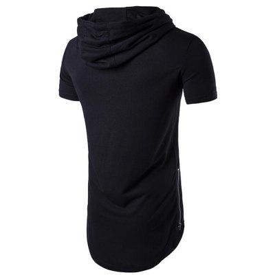 Mens Casual Daily Hooded T-shirt Solid ZipperMens T-shirts<br>Mens Casual Daily Hooded T-shirt Solid Zipper<br><br>Collar: Hooded<br>Embellishment: Zippers<br>Fabric Type: Broadcloth<br>Material: Cotton, Cotton Blends<br>Package Contents: 1 x T-shirt<br>Pattern Type: Solid<br>Sleeve Length: Short Sleeves<br>Style: Active<br>Weight: 0.3000kg