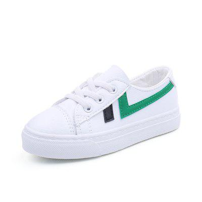 2018 Spring New Children'S Shoes for Men and Women Super Fiber Skin Stitching