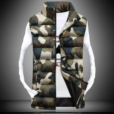 Autumn MenS Show Thin Trend Camouflage Tank CoatWaistcoats<br>Autumn MenS Show Thin Trend Camouflage Tank Coat<br><br>Closure Type: Zipper<br>Clothes Type: Waistcoat<br>Collar: Turtleneck<br>Color Style: Gradient<br>Colors: White,Yellow,Army green<br>Decoration: Pattern<br>Detachable Part: None<br>Fabric Type: Polyester<br>Hooded: No<br>Lining Material: Cotton,Polyester<br>Materials: Cotton, Polyester, Cotton Blend, Down<br>Package Content: 1x Coat<br>Package size (L x W x H): 1.00 x 1.00 x 1.00 cm / 0.39 x 0.39 x 0.39 inches<br>Package weight: 0.6000 kg<br>Product weight: 0.5500 kg<br>Shirt Length: Regular<br>Size1: M,L,XL,2XL,3XL<br>Style: Casual<br>Technics: Handmade<br>Thickness: Thickening<br>Type: Slim