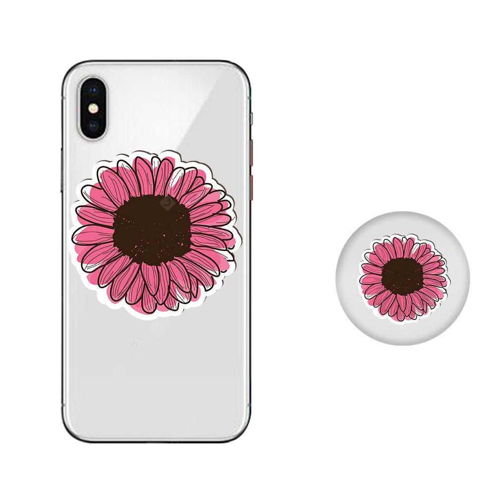 Case for iPhone X with Cell Phone Universal Stand Telescopic Airbag Support Flower Pattern Bracket