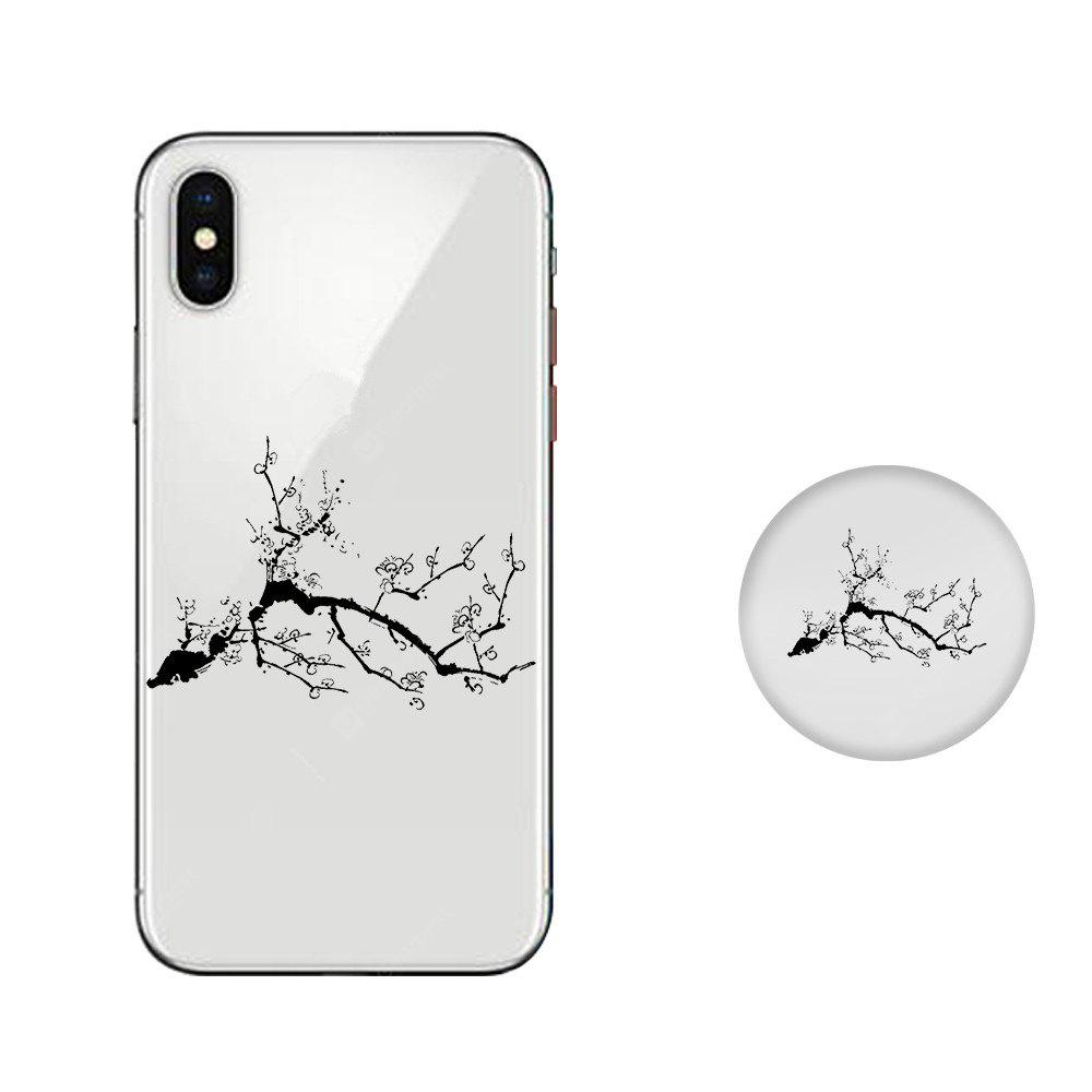 Case for iPhone X with Cell Phone Universal Stand Telescopic Airbag Support Ink Painting Bracket