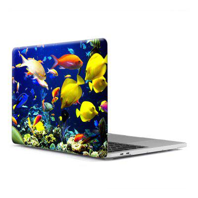 Computer Shell Laptop Fall Tastatur Film für MacBook New Pro 13,3 Zoll Touch 2016 3D Marine Life 7