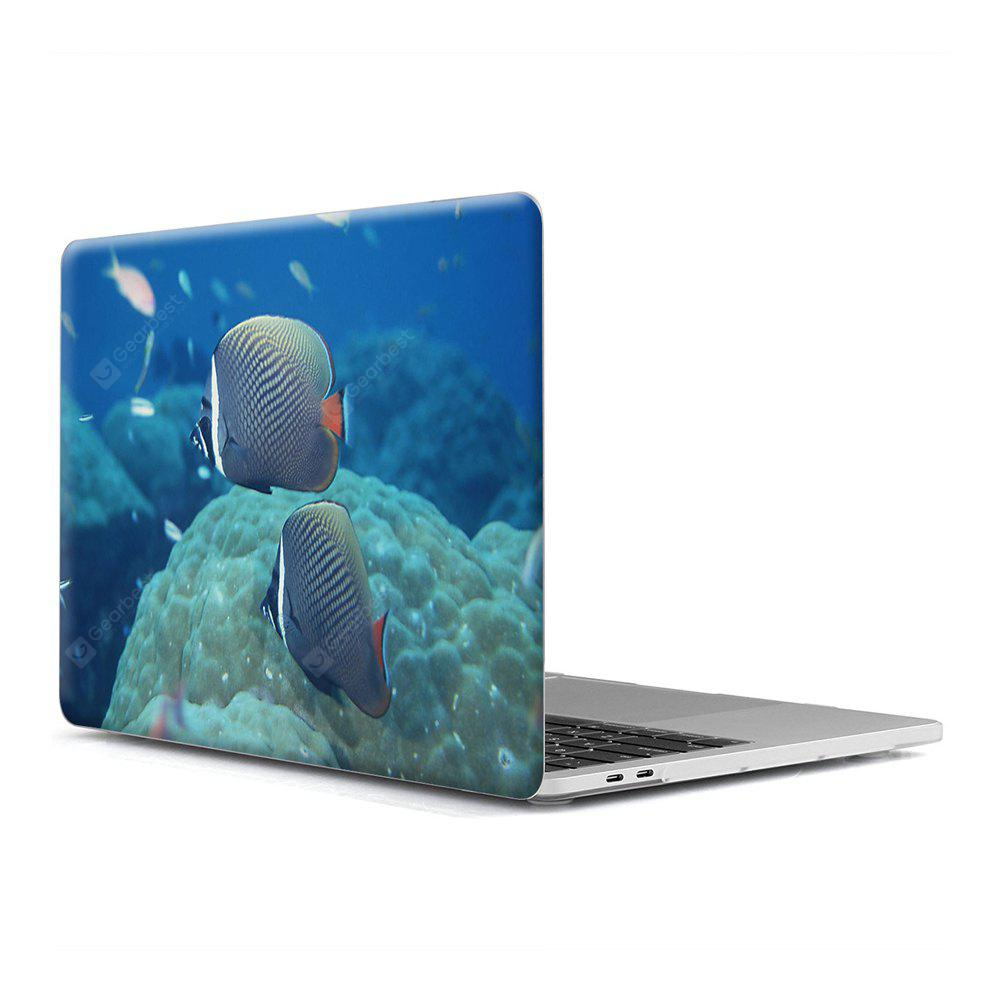 Computer Shell Laptop Case Keyboard Film para MacBook New Pro 13,3 polegadas Touch 2016 3D Marine Life 8