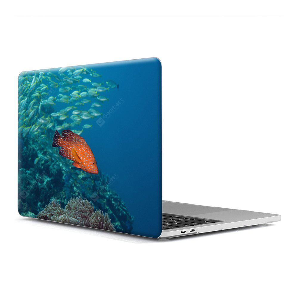 Computer Shell Laptop Case Keyboard Film para MacBook New Pro 15.4 polegadas Touch 2016 3D Marine Life 3