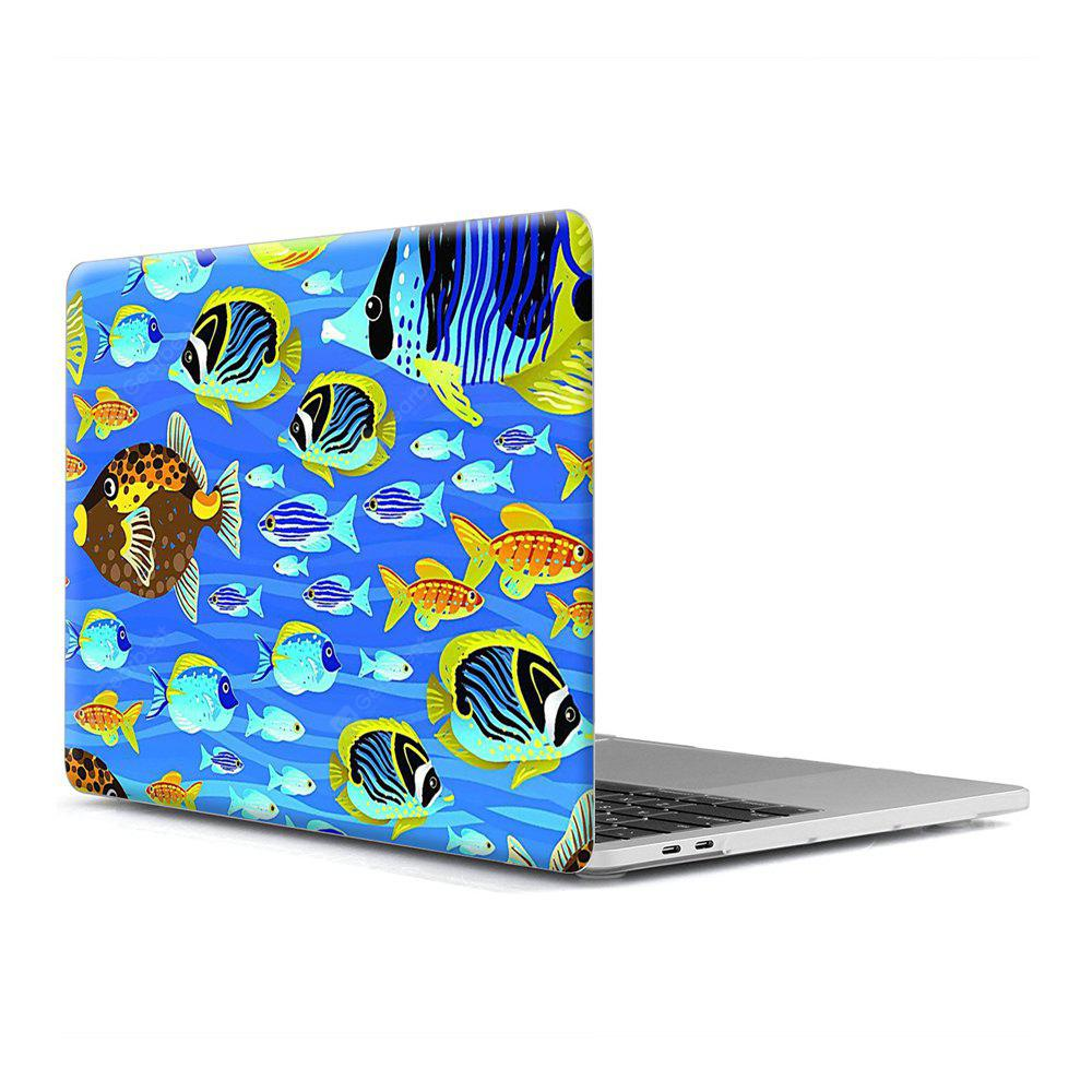Computador Shell Laptop Case Keyboard Film para MacBook Retina 15.4 polegadas 3D Marine Life 2