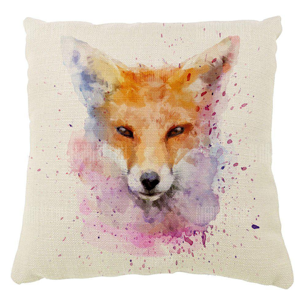 The Fox Color Ink Cotton Pillow Hold Pillow Case16inch x16inch