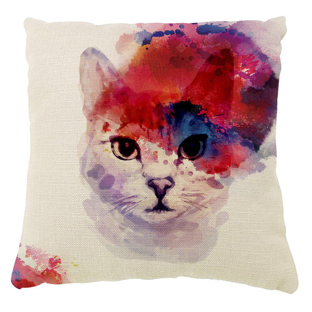 Color Inkjet Ink Meow Cushion Cover Hug Pillowcase 16inch x16inch
