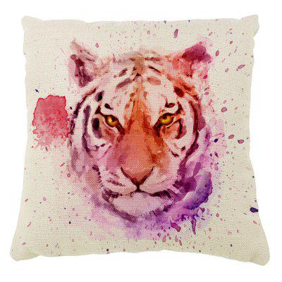 Tiger Pattern Color Ink Hand-Painted Cushion Cover With Pillowcase16inc x16inch
