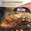 Digital Meat Cooking Thermometer Instant Read with Food Safe Probe for Grill Kitchen Bbq Smoker Oven Oil Mi - BLACK