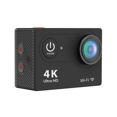 4K Action Camera 12MP WIFI Waterproof 2 Inch LCD Sports 170 Degree Wide-Angle Lens CamAction Cameras<br>4K Action Camera 12MP WIFI Waterproof 2 Inch LCD Sports 170 Degree Wide-Angle Lens Cam<br><br>Battery Capacity (mAh?: 1050mAh<br>Charging Time: 2 Hour<br>FOV: 270 Degree<br>Microphone: N/A<br>Other Functions: DIS intelligent anti-shake<br>Package Contents: 1 x 4K Action Camera,1 x Waterproof Case,1 x Handle Bar Mount,6 x Mount,2 x Clip,1 x Helmet Mounts, 4 x Bandages, 1 x Lens Cloth,1 x Tether, 1 x Protective Backdoor, 2 x 3M Stickers, 1 x USB Cable, 1<br>Package size (L x W x H): 7.00 x 3.00 x 5.00 cm / 2.76 x 1.18 x 1.97 inches<br>Package weight: 0.5100 kg<br>Product size (L x W x H): 6.00 x 2.50 x 4.10 cm / 2.36 x 0.98 x 1.61 inches<br>Product weight: 0.4900 kg<br>Screen size (inch): 2<br>Standby time: 1 Hour<br>Storage medium: Other<br>Touch screen: No<br>Video Frame Rate: 30FPS,100fps<br>Working Time: 1 Hour