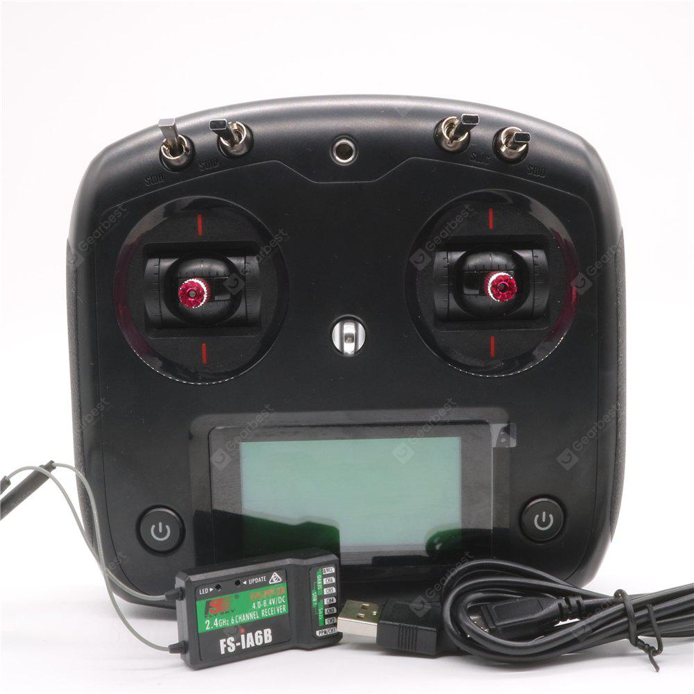 Flysky FS - I6S Digital Proportional Radio Control System with FS-IA6B Receiver Throttle Tension Bar for Racing Drones
