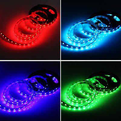 HML 5M 72W 5050 RGB LED Strip Light with 10 Keys RF Remote Control And US Power