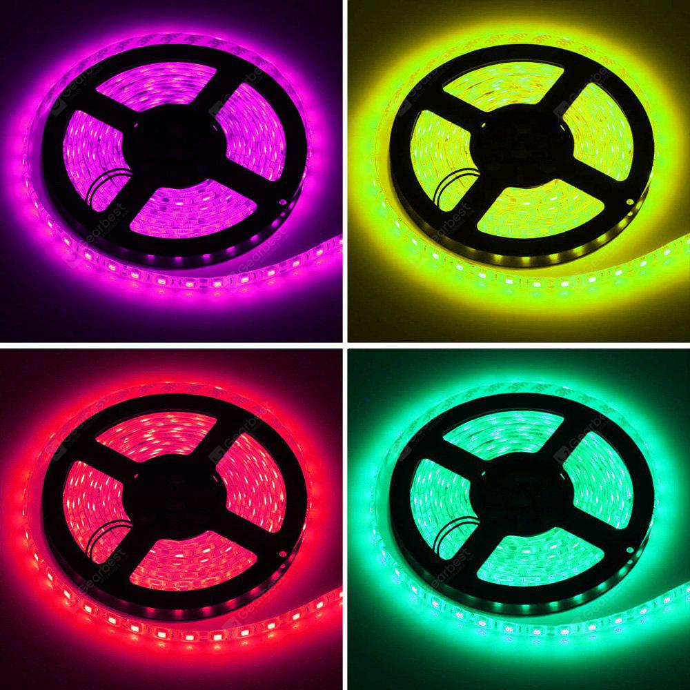 HML 5M Waterproof 72W 5050 RGB LED Strip Light with 24 Keys Remote Control And US Power Adapt