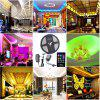 HML 5M Waterproof 72W 5050 RGB LED Strip Light with 20 Keys Music Remote Control And US Power Adapter