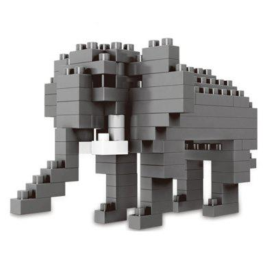 Creative Elephant Small Particles Assembled Puzzle Building Blocks Toy