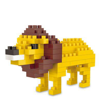 Creative Lion Small Particles Assembled Puzzle Building Blocks Toy