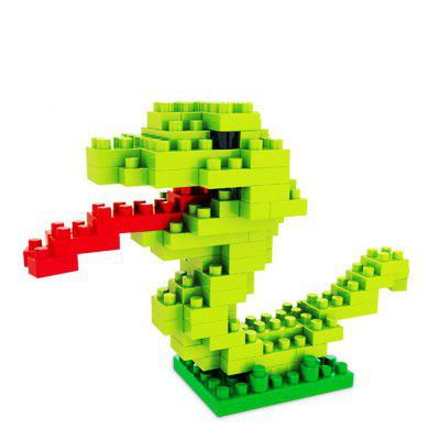 Creative Snake Small Particles Assembled Puzzle Building Blocks Toy