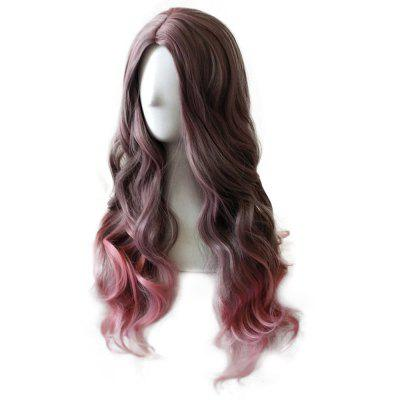 Women Popular Fashion Hot Mixed Color Long Curly Wig